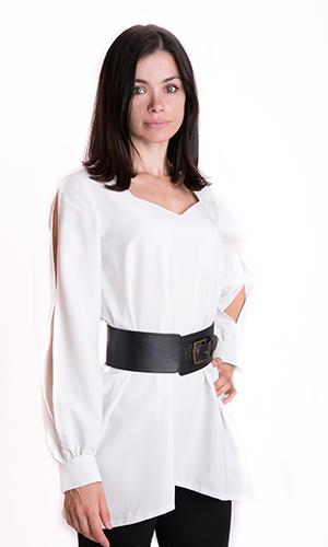 платье-туника белого цвета